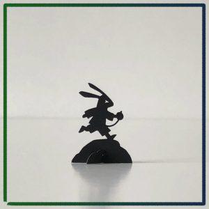 John Tenniel's Alice's Adventures in Wonderland - 2021 miniature book by Nicolas Codron - White Rabbit pop-up figurine